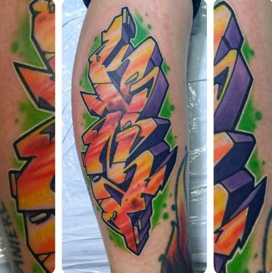 Guys Forearm Wildstyle Graffiti Tattoo Designs