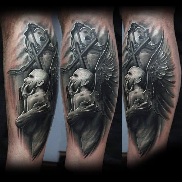 Guys Forearms Amazing Black And White Tattoo