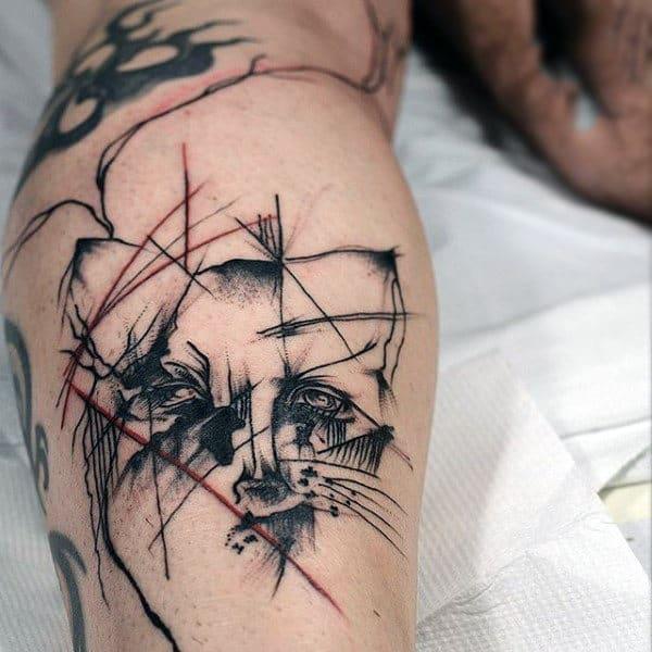 Guys Forearms Black Pencil Art Fox Tatoo