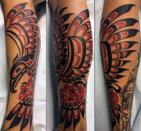 Guys Forearms Brilliant Haida Tattoo