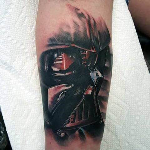 Guys Forearms Darth Vader Tattoo
