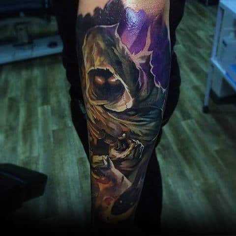 Guys Forearms Demon Sick Tattoo Ideas