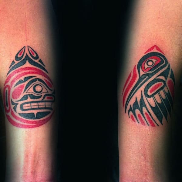 Guys Forearms Fabulous Haida Tattoo