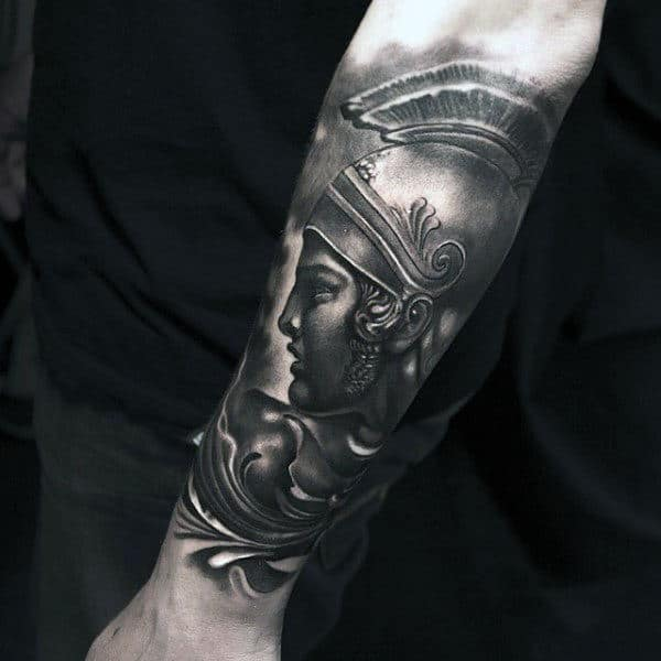 Guys Forearms Handsome Warrior Tattoo