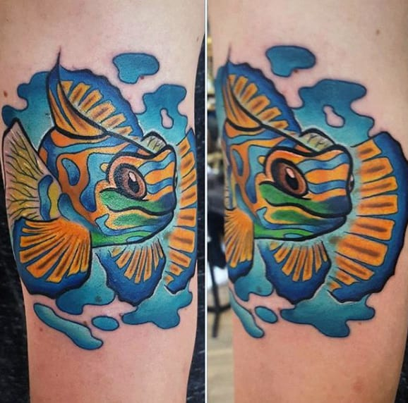 Guys Forearms New School Fish Tattoo