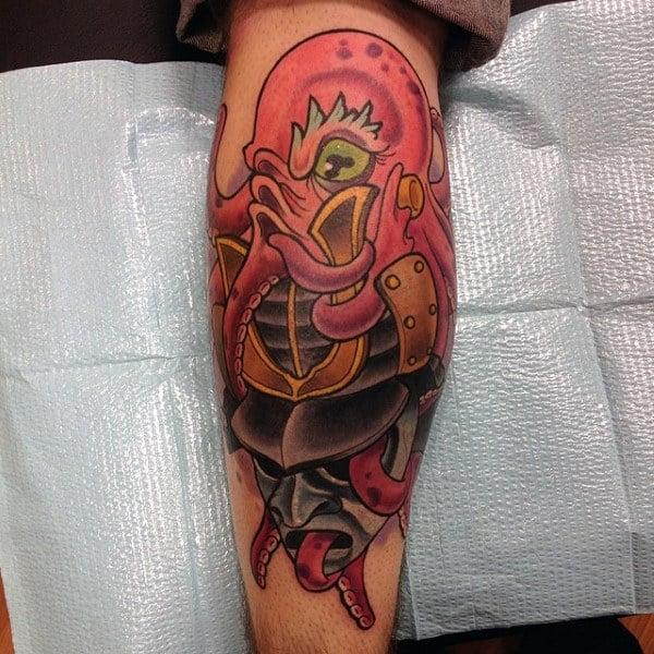 Guys Forearms Orange New School Tattoo