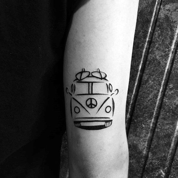 Guys Forearms Surf Tattoo