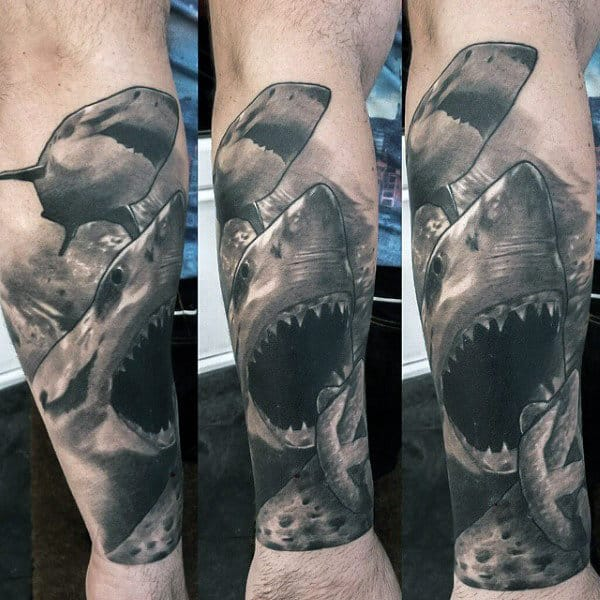Guys Forearms Underwater Beings Manly Tattoo