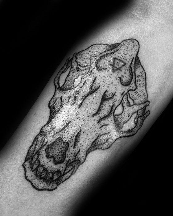 Guys Fox Skull Tattoo Designs