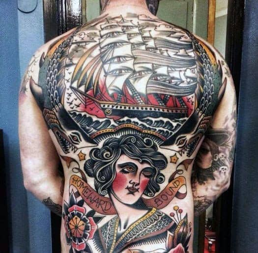 guys-full-back-tattoos-with-vintage-design