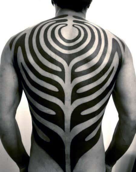 Guys Full Back Tribal Tattoos