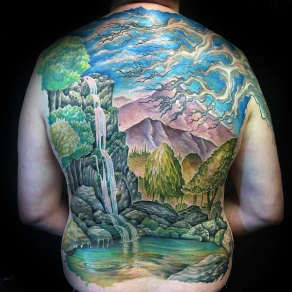 70 Waterfall Tattoo Designs For Men