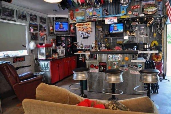 Guys Garage Bar Ideas