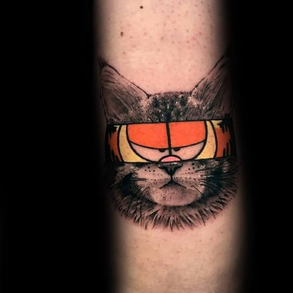 Guys Garfield Tattoo Design Ideas
