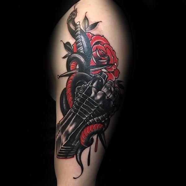 Guys Gauntlet Tattoo Designs