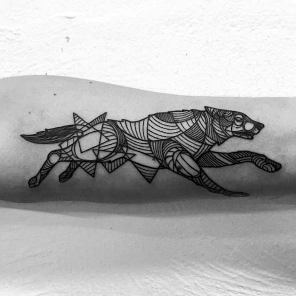 Guys Geometric Animal Tattoo