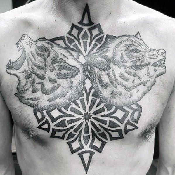 60 Geometric Chest Tattoos For Men