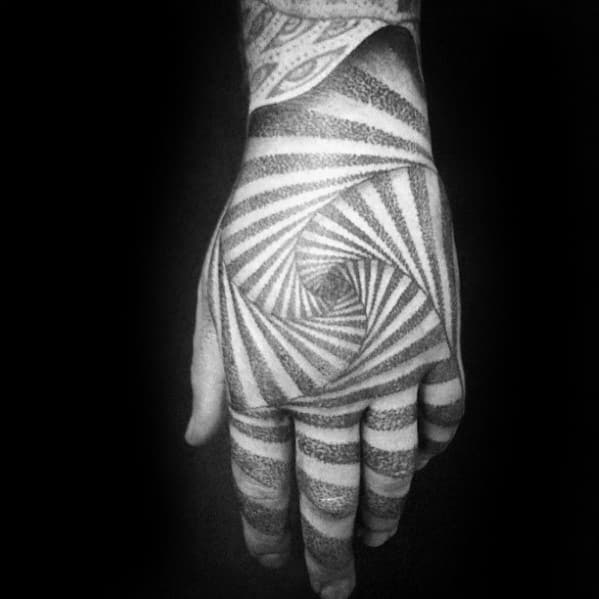 guys-geometric-optical-illusion-spiral-3d-hand-tattoo-design-ideas
