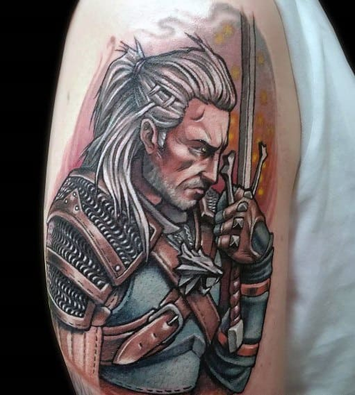 Guys Geralt Tattoos