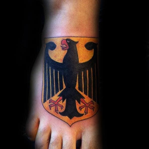Guys German Eagle Foot Tattoo