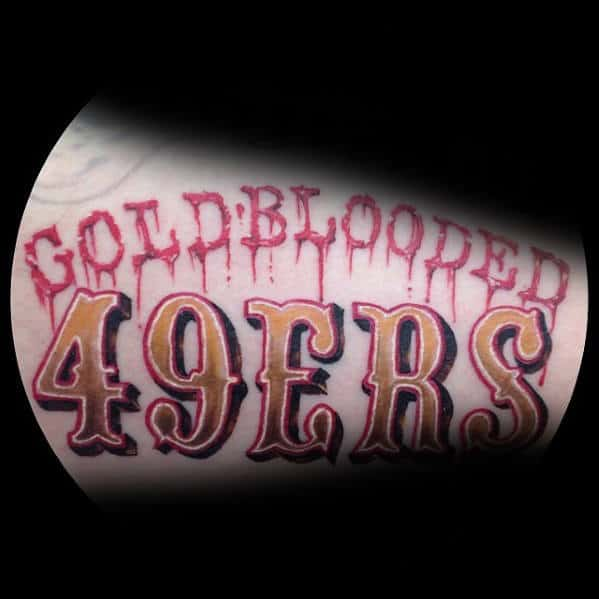 Guys Goldblooded 49ers Mens Arm Tattoo
