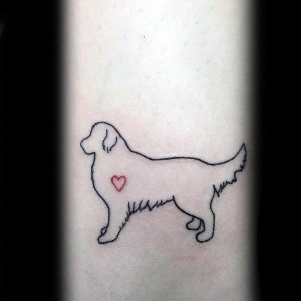 40 golden retriever tattoo designs for men dog ink ideas. Black Bedroom Furniture Sets. Home Design Ideas