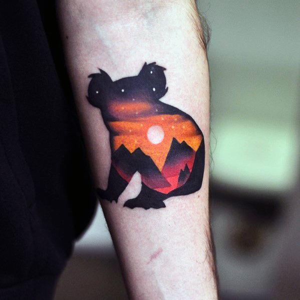 Guys Gradient Tattoo Design Ideas