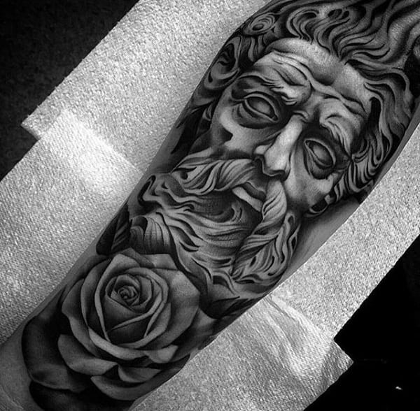 Tattoo Leg Man Rose Flower Black And White: 100 Forearm Sleeve Tattoo Designs For Men