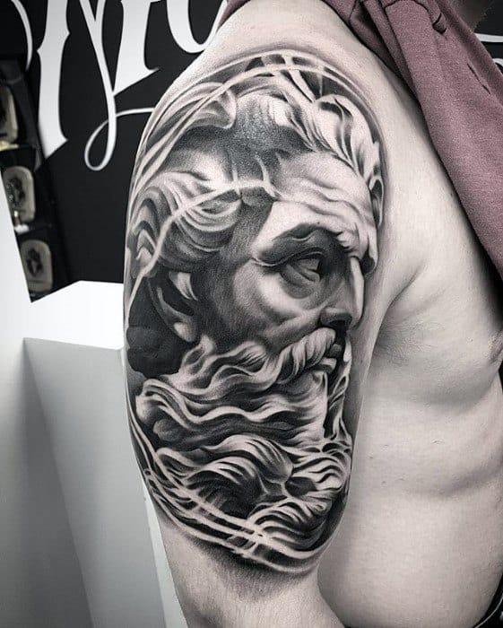 Guys Greek God Unique Arm 3d Tattoo Designs