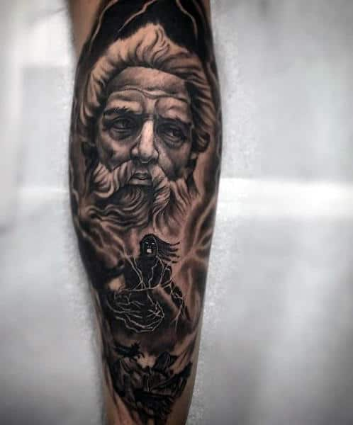 60 greek tattoos for men mythology and ancient gods for Fraternity tattoo ideas