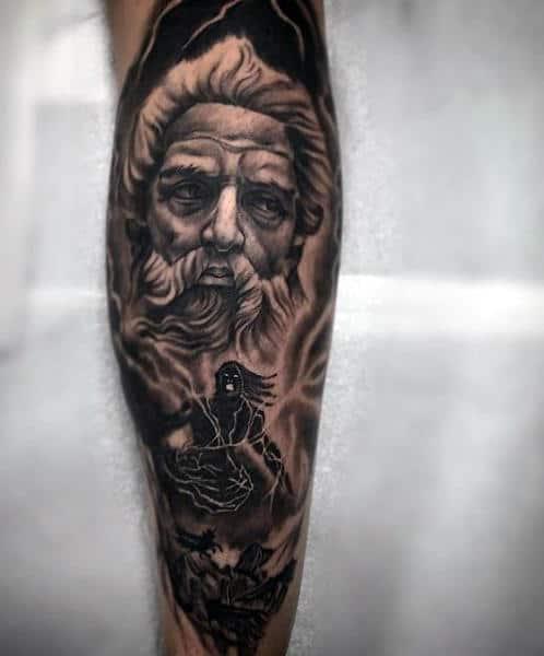 Greek god tattoo sleeve