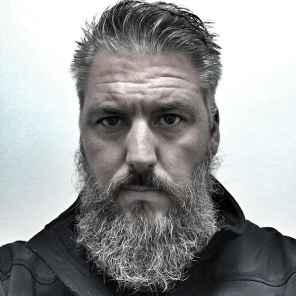Guys Grey Style Ideas For Beards