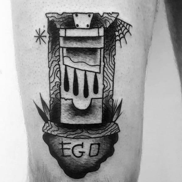 Guys Guillotine Tattoo Design Ideas