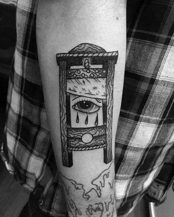 Guys Guillotine Tattoo Designs
