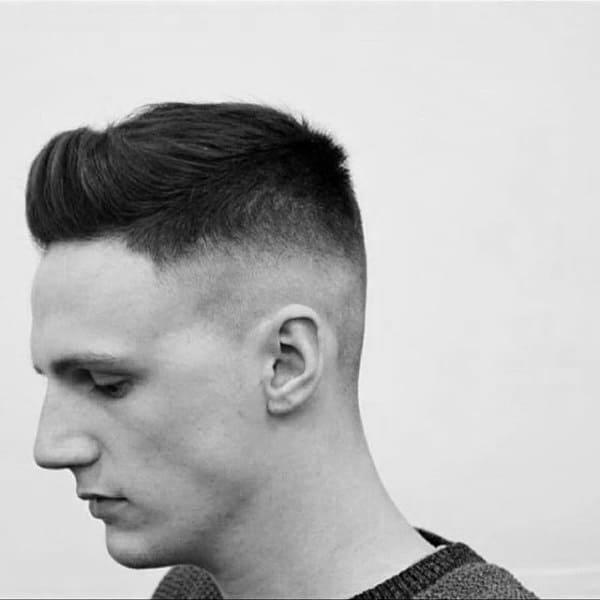 Guys Haircuts Short Faux Hawk Fade