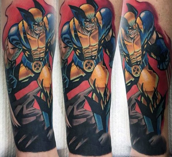 Guys Half Sleeve Cool Wolverine Tattoos