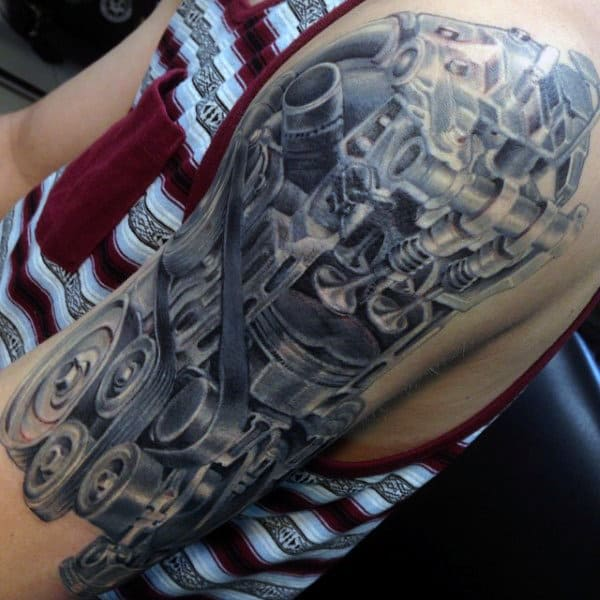 Guys Half Sleeve Design Ideas Engine Tattoo