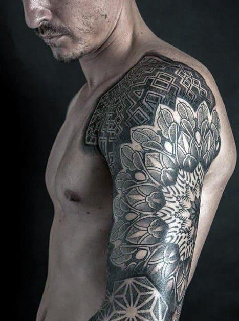 Guys Half Sleeve Tattoo Ideas Mandala Designs
