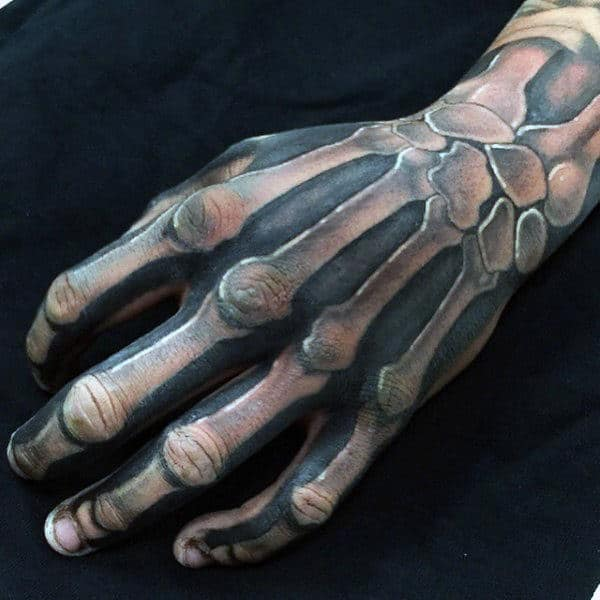 Guys Hands Manly Bony Structure Tattoo