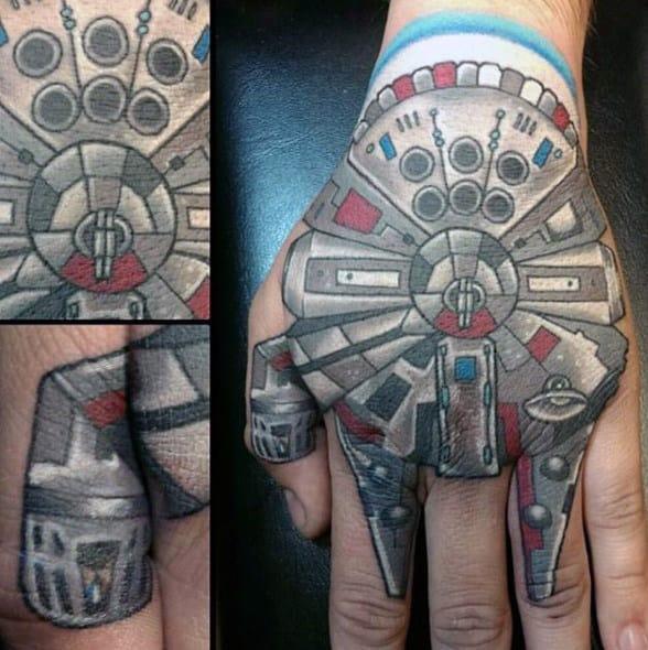 Guys Hands Star Wars Tattoo