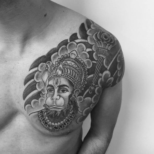 60 hanuman tattoo designs for men hinduism ink ideas. Black Bedroom Furniture Sets. Home Design Ideas