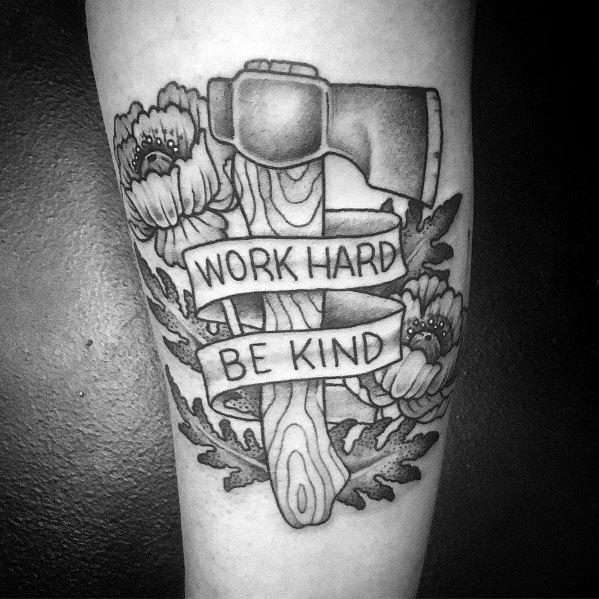 Guys Hatchet Tattoo Design Ideas