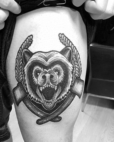 Guys Hatchet Tattoos
