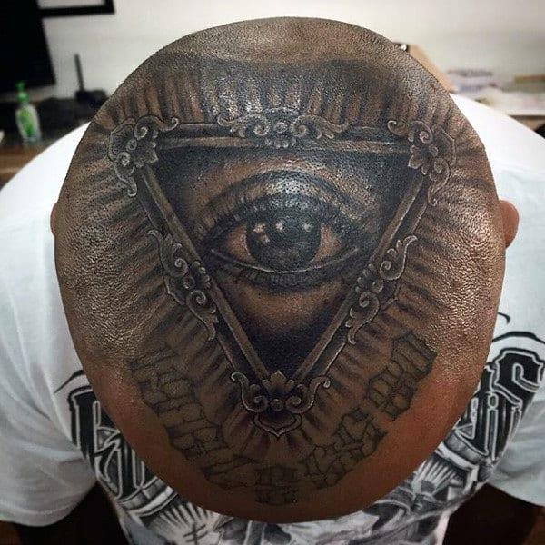 Guys Head Illuminati Tattoo