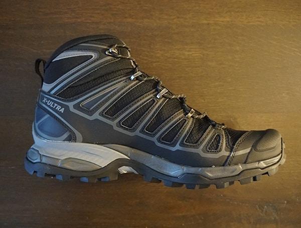 Guys Hiking Shoes Side Salomon X Ultra Mid 2 Spikes Gtx