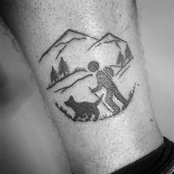 Guys Hiking Tattoos