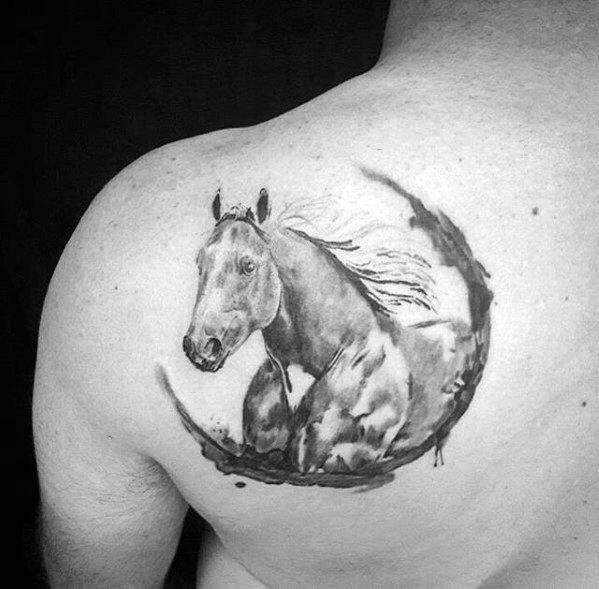 Guys Horse Tattoo Designs