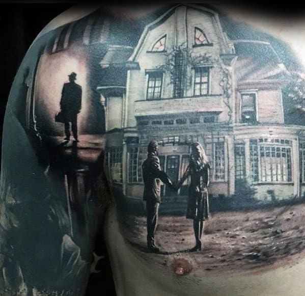 Guys House Chest And Arm 3d Tattoos With Epic Design