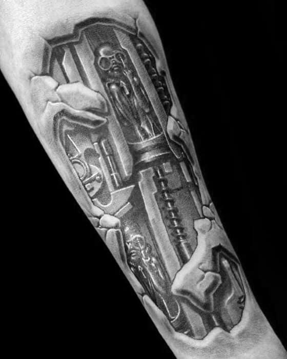 50 Hr Giger Tattoo Designs For Men - Swiss Painter Ink Ideas H.r. Giger Tattoo