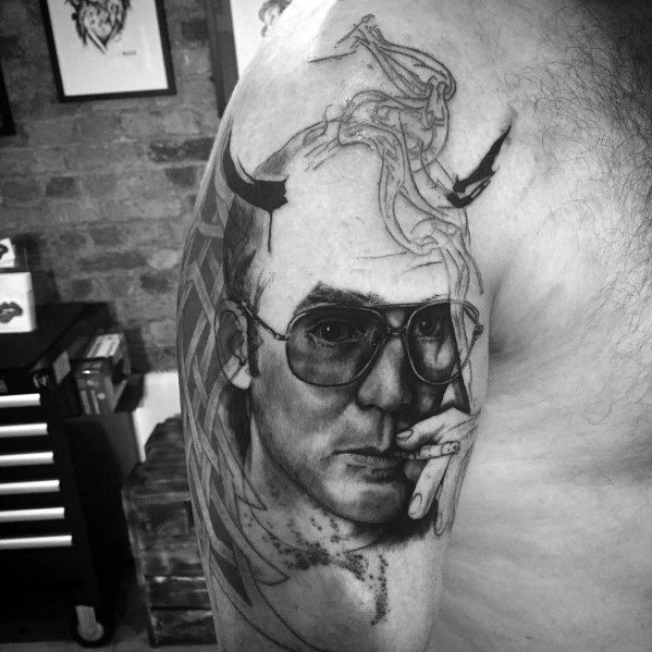Guys Hunter S Thompson Tattoos